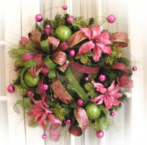 silk flowers wreath