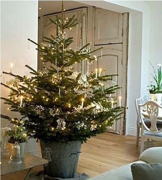 christmas tree idea for rustic christmas decorations