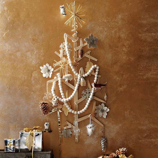 Easy Christmas Decorating Ideas DIY Christmas Tree Ice Cream Stick