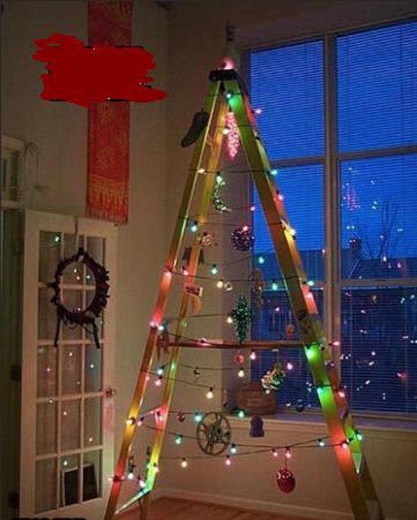 alternative to a christmas tree with lights - Alternative Christmas Tree Decorations