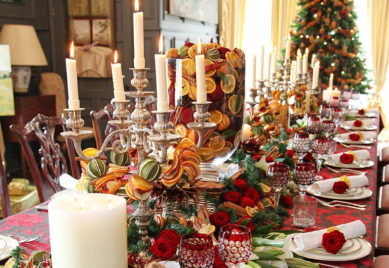 Beautiful-christmas-centerpieces-21. image number 24 of table setting ideas for christmas dinner ... : table set for christmas dinner - pezcame.com