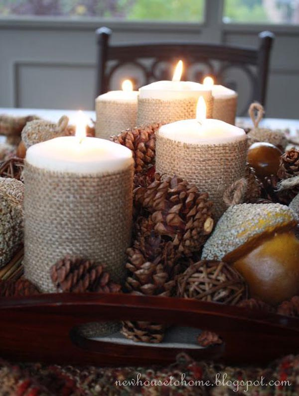 candle rustic christmas decorations - Rustic Christmas Decorations