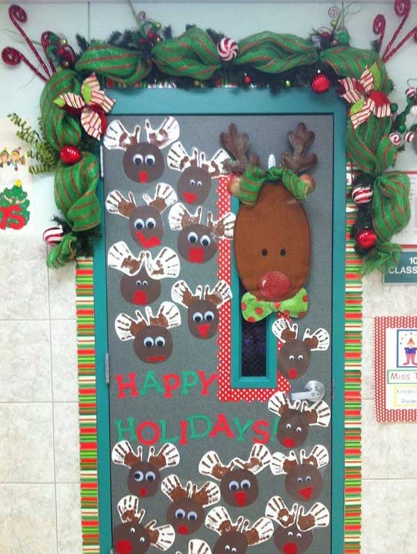 40+ Christmas Door Decorating Ideas  Christmas Celebrations ~ 225633_Christmas Decorating Ideas For Classroom Door