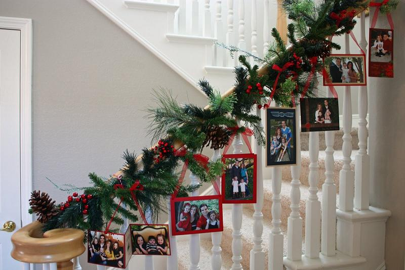 christmas decor photo garland