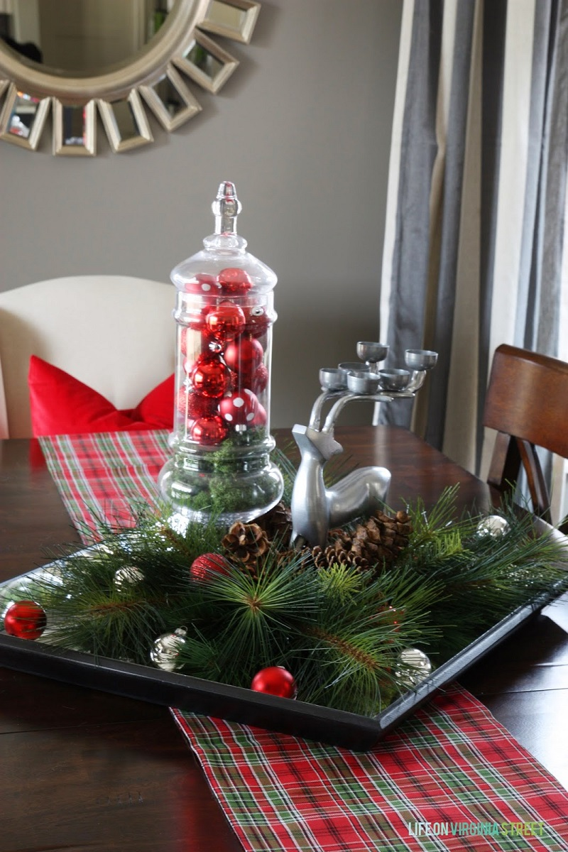 christmas decor dining table