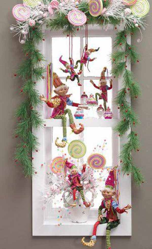 christmas decorations window - Christmas Window Sill Decorations Ideas