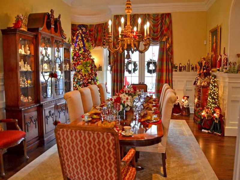 christmas dining room - Dining Room Table Christmas Decoration Ideas