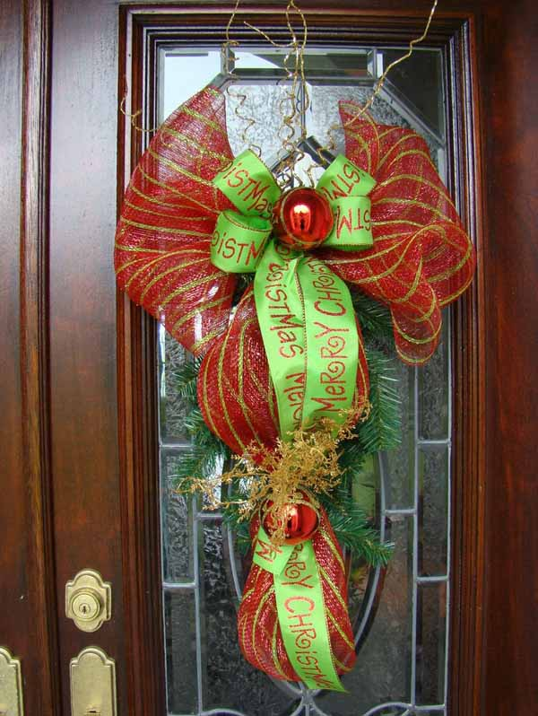 christmas-door-wreaths & Top Christmas Door Decorations - Christmas Celebration - All about ...