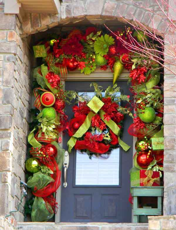 christmas front door decorating ideas - Christmas Door Decorations