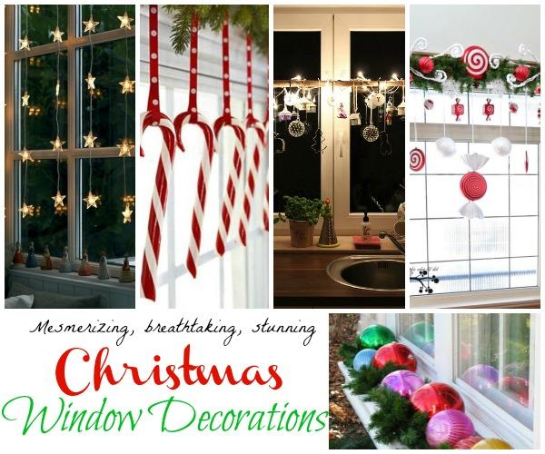 christmas windows decorations - How To Decorate Windows For Christmas