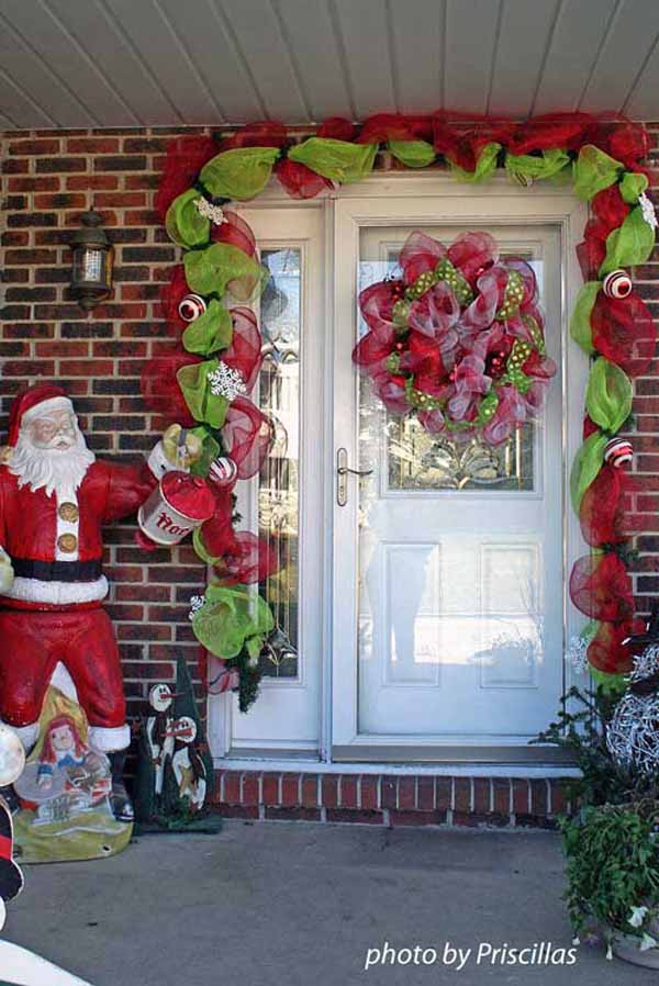 diy christmas door decorations - How To Decorate Your Door For Christmas