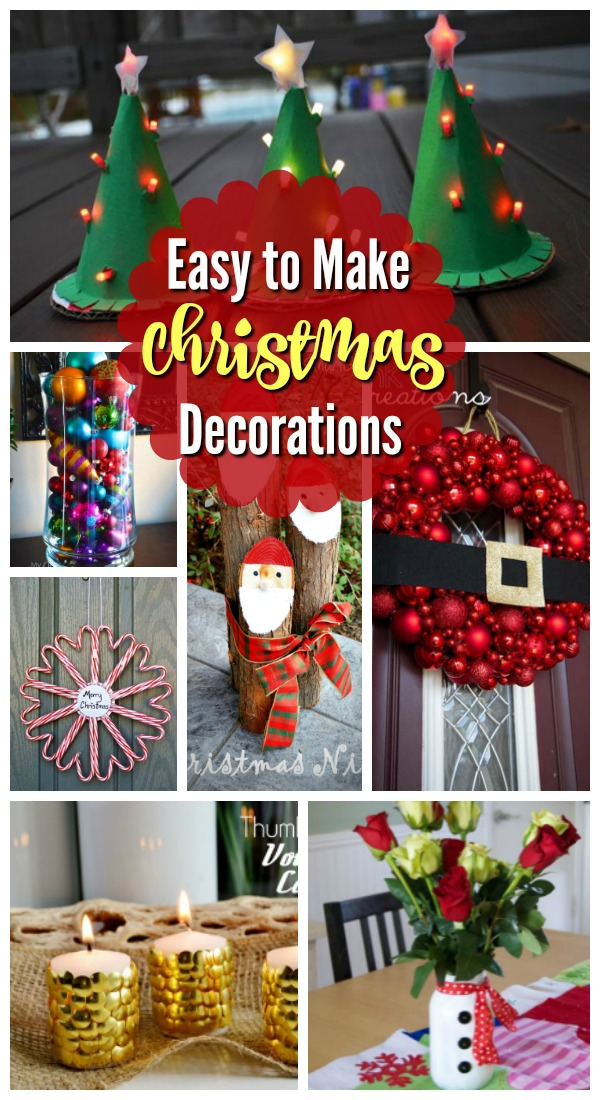 17 Easy To Make Christmas Decorations Celebration