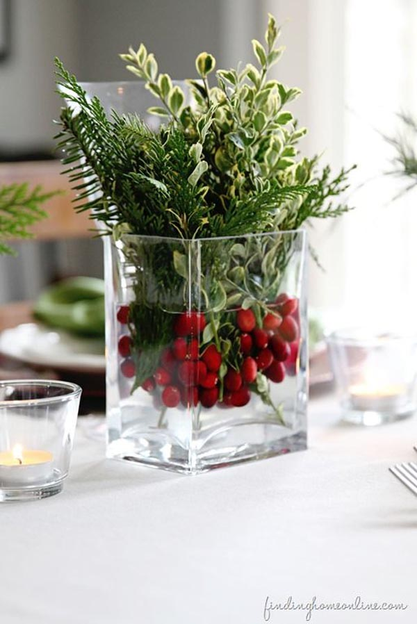 Christmas centerpieces using vases urban home interior
