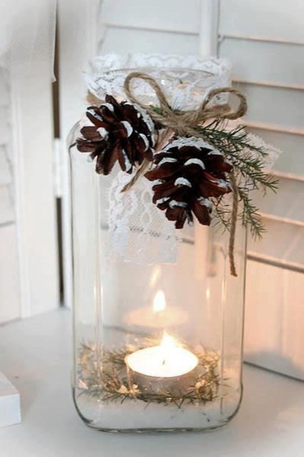 handmade rustic christmas decorations - Rustic Christmas Centerpieces