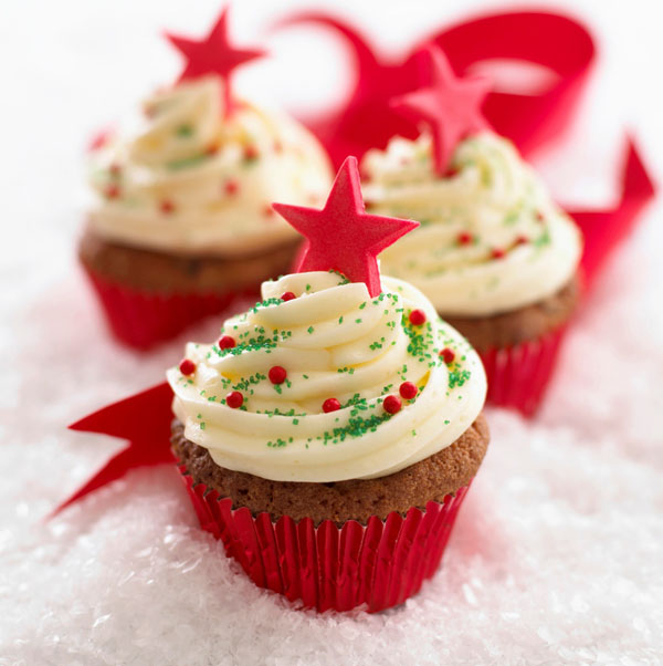 how to make christmas cupcakes