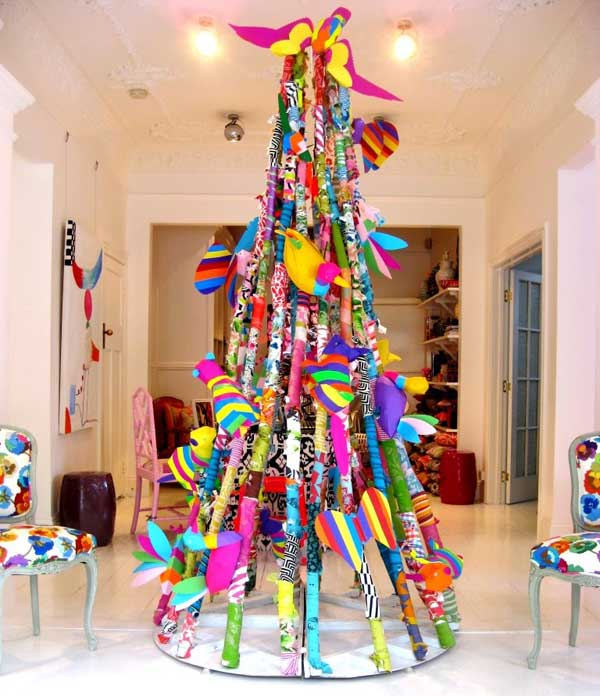 Unique and clever alternative christmas trees christmas Creative christmas decorations