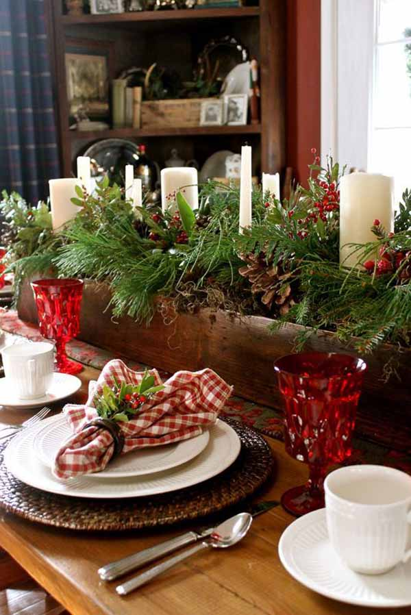 Ideas Rustic Christmas Decorations For Table