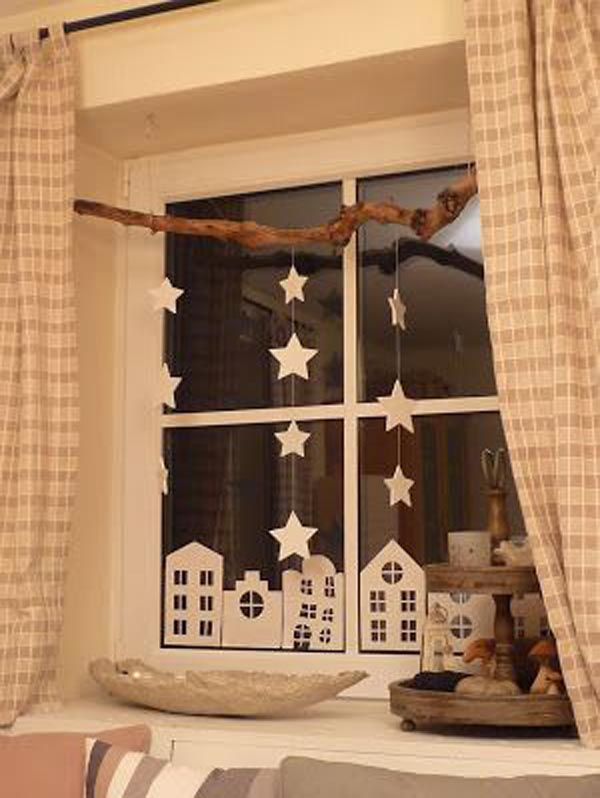 Mesmerizing and easy christmas window decorations - Decoration de fenetre pour noel ...