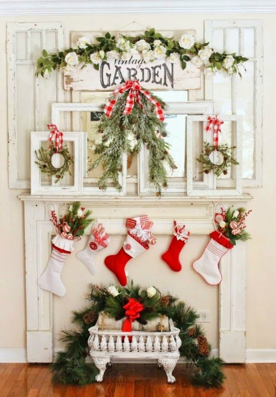 Hereu0027s one of the cutest and most fabulous mantel set-up Iu0027ve seen so far. The decoration is quite simple yet oozes with elegance. & Top Indoor Christmas Decorations - Christmas Celebration - All about ...