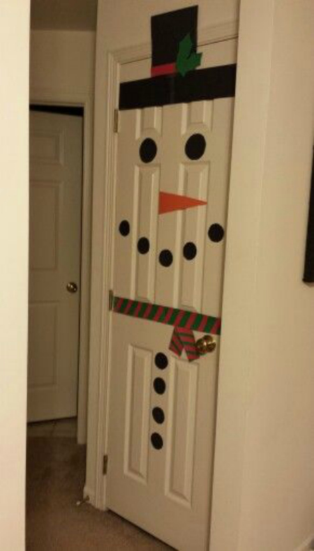 And You Can Also Have A Snowman On Your Door Just Like Above Image