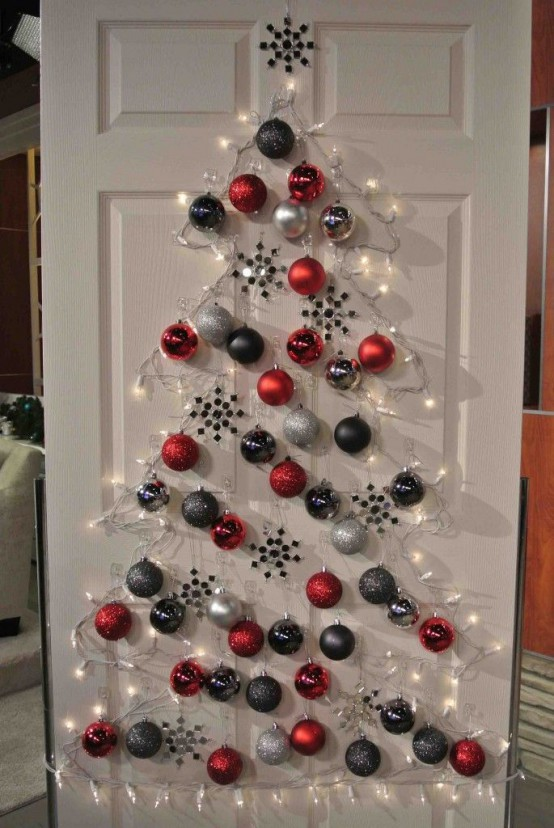 This indoor christmas decoration is perfect for those who don't have ample  space but still want to enjoy a view a sparkling and colorful christmas  tree.