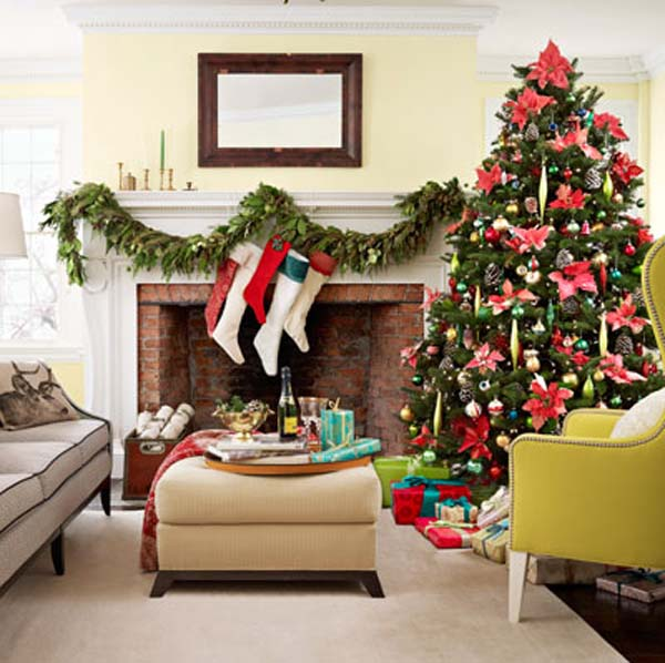 Top indoor christmas decorations christmas celebration for Christmas interior house decorations