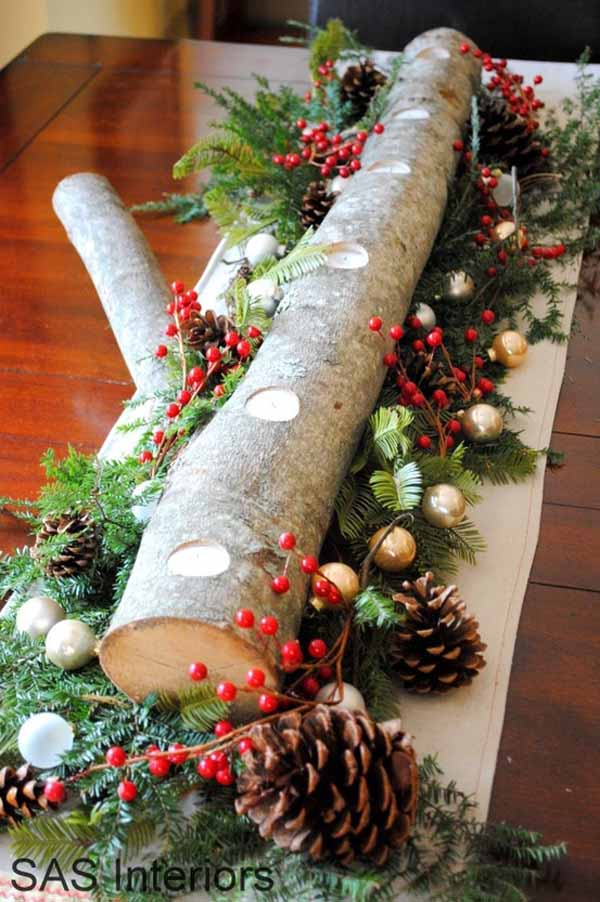 natural tabletop christmas decorations