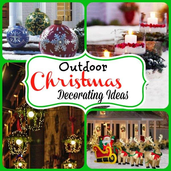 Top outdoor christmas decorations ideas christmas Christmas decorations for house outside ideas