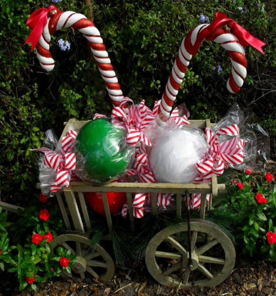 diy candy cane outdoor decor