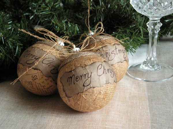 Rustic christmas balls decorations christmas celebration all