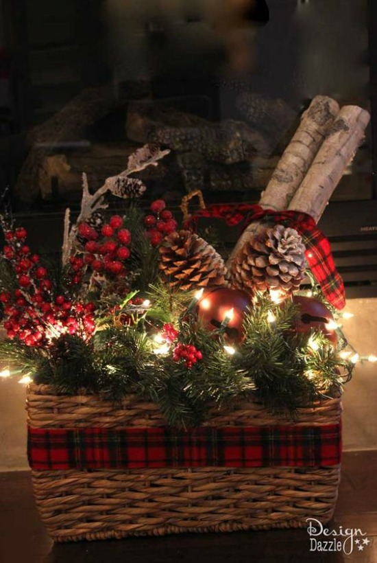 If You Have An Empty Basket Can Also Use That For Your Home Decoration This Holiday Just Wrap It Up With Ribbon And Fill Pinecone