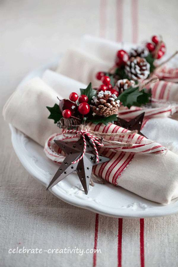 rustic christmas decorations for table