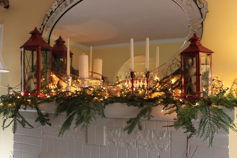 rustic christmas decoration for double story building