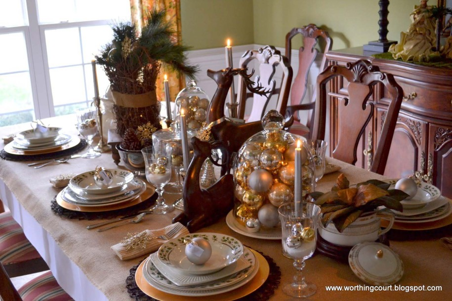 rustic christmas table setting - Rustic Christmas Table Decorations