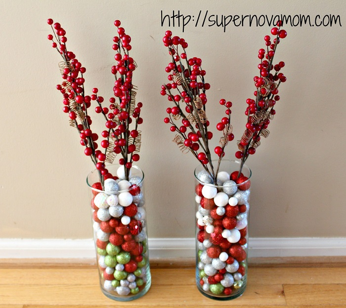 simple christmas center piece idea