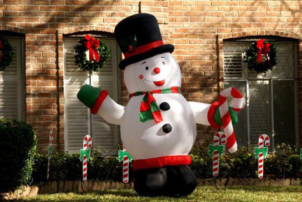 snowman-outdoor-christmas-decorations-ideas