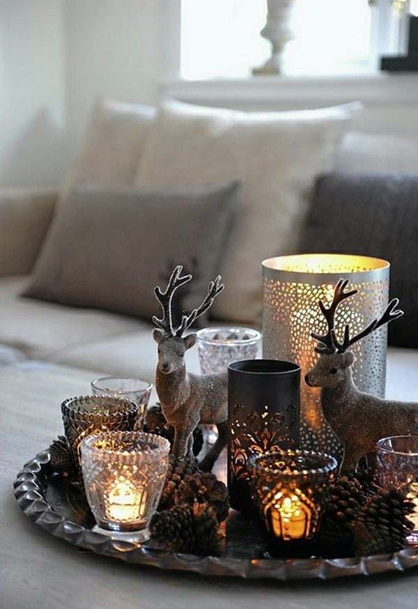 Beau Tabletop Rustic Christmas Decorations