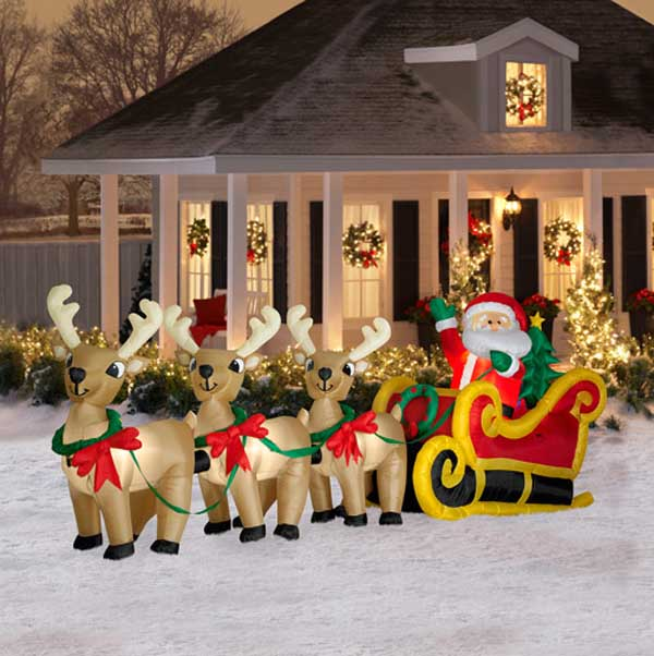 Top outdoor christmas decorations ideas christmas Traditional outdoor christmas decorations