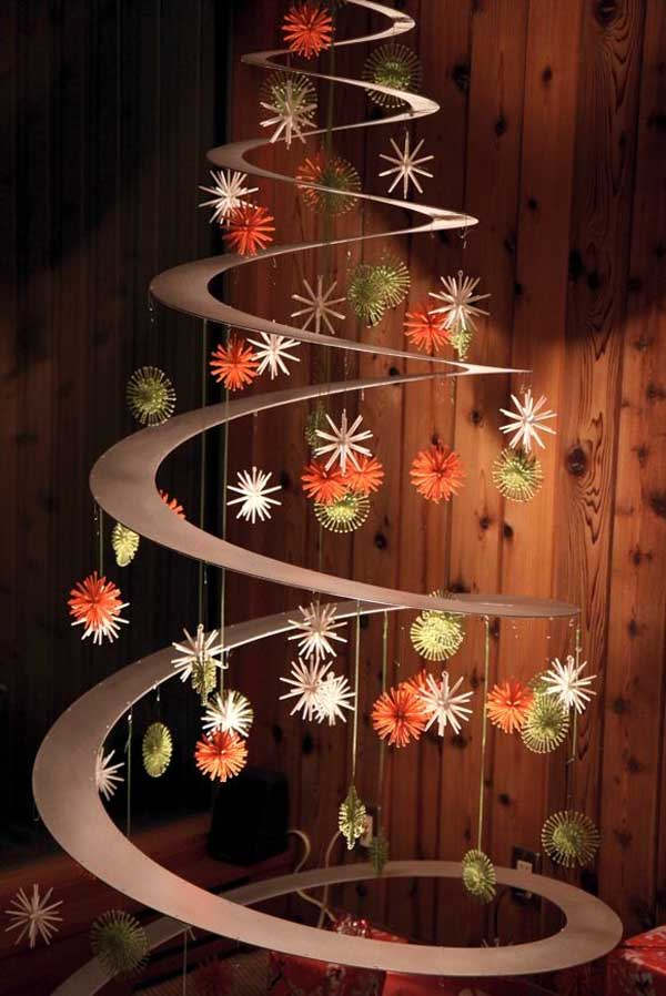 alternative christmas tree ideas - Alternative Christmas Tree Decorations