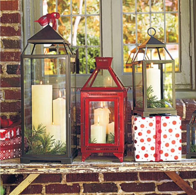 10how to make a christmas lantern - How To Decorate A Lantern For Christmas