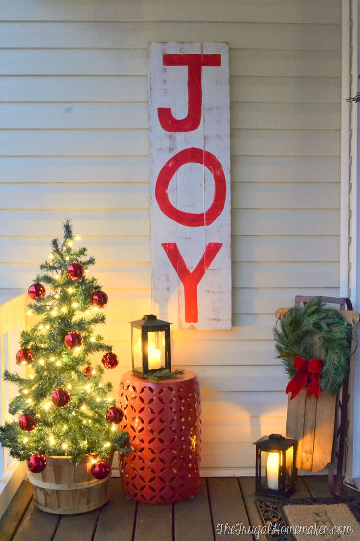 Rustic JOY Christmas Sign - Christmas Celebration - All about Christmas