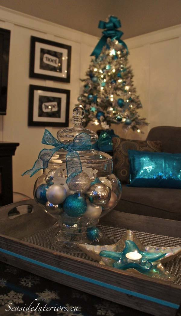 silver and blue christmas decor - Blue And Silver Christmas Decorations