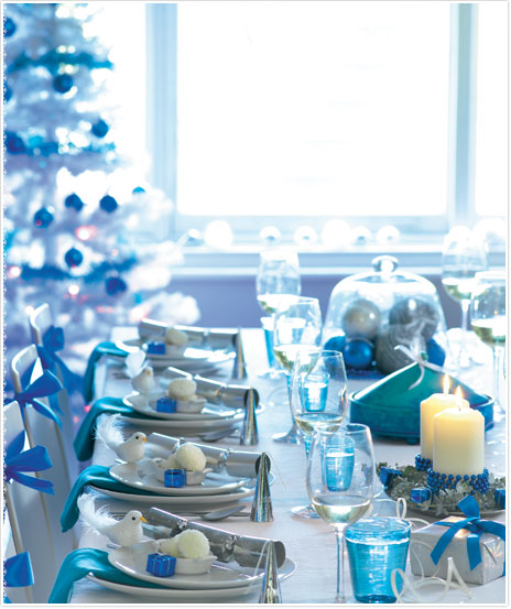 blue christmas decorating ideas - Blue Christmas Decorations