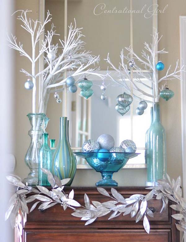 blue christmas decoration ideas - Blue Christmas Decorations Ideas