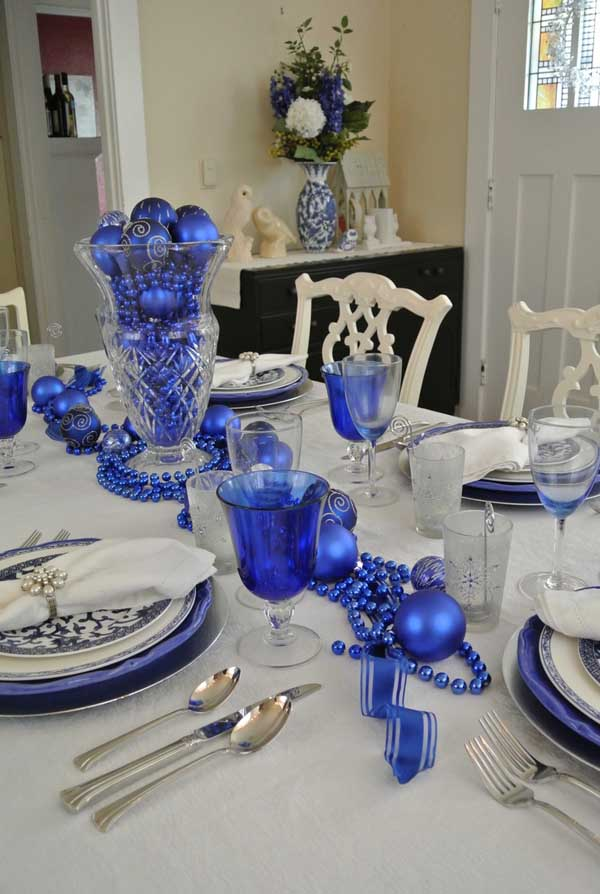 blue christmas decorations ideas - Blue And Silver Christmas Decorating Ideas