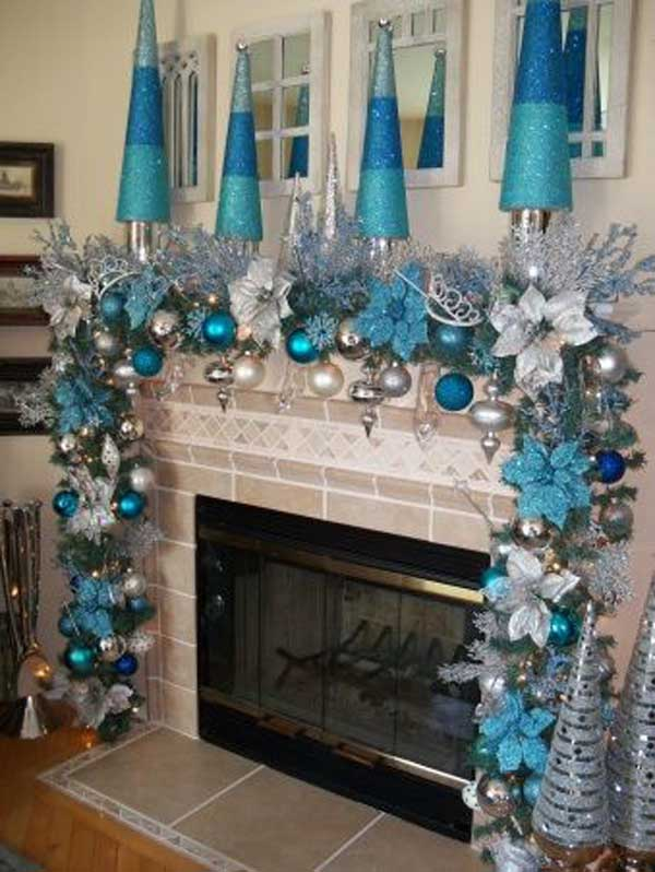 blue christmas ideas