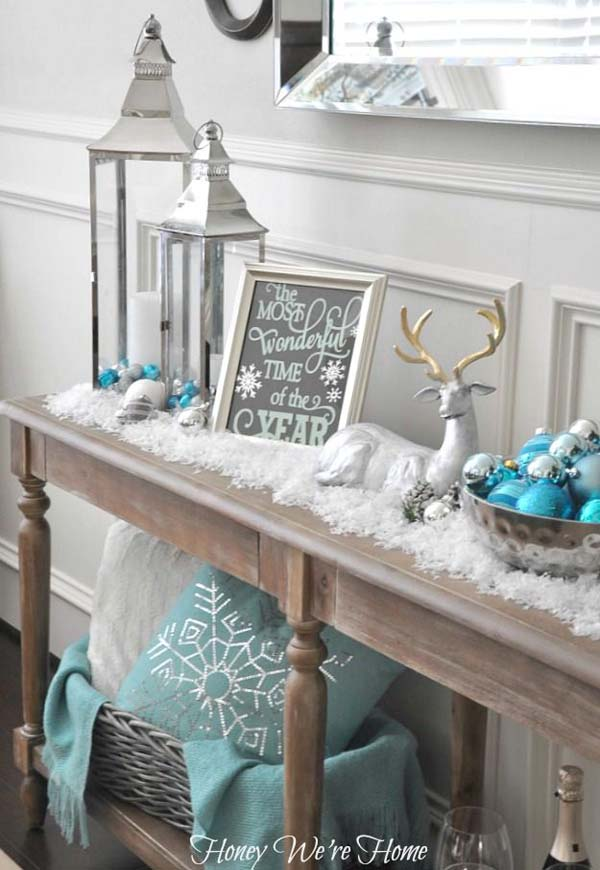 blue-christmas-mantel-decorating-ideas
