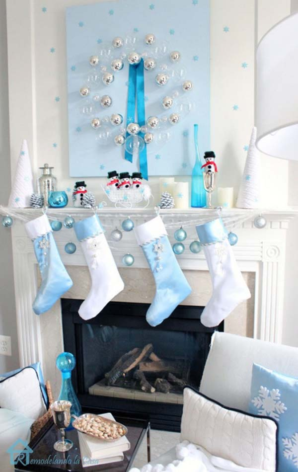 blue-christmas-mantel-ideas