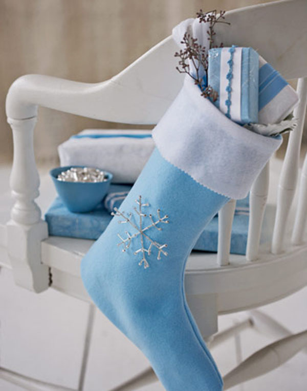 blue christmas stocking - Blue Christmas Stocking