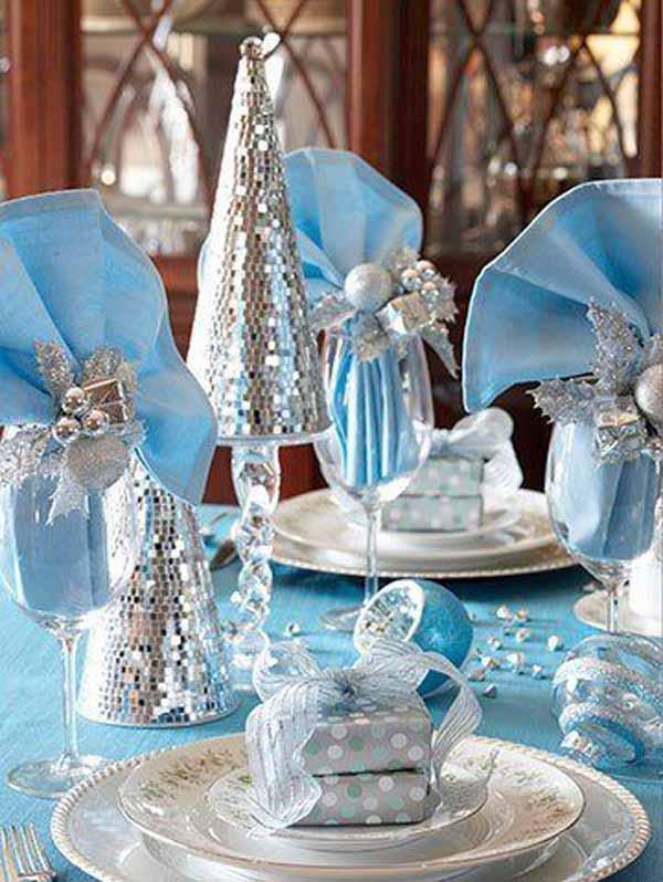blue-christmas-table-decoration-ideas & Blue Christmas Decorations - Christmas Celebration - All about Christmas